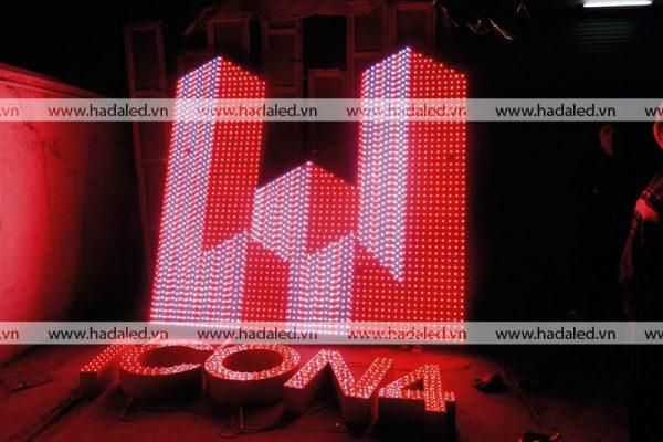 Lắp đặt Logo trên nóc tòa nhà cao tầng