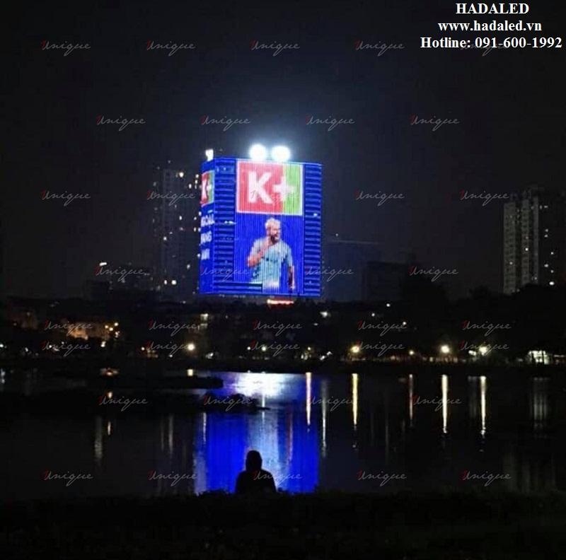 trang trí tòa nhà bằng đèn led