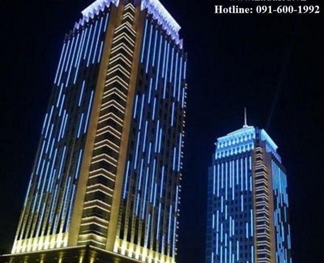 chiếu sáng tòa nhà bằng đèn led