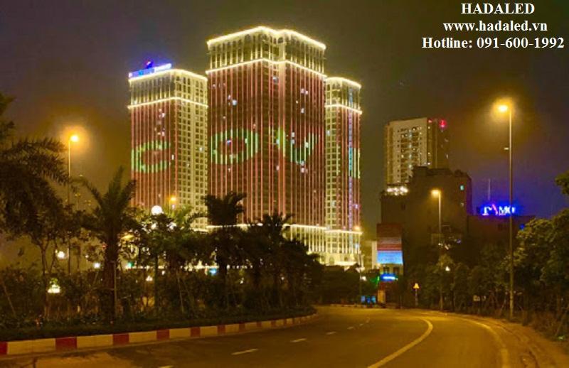 led chiếu sáng trang trí tòa nhà